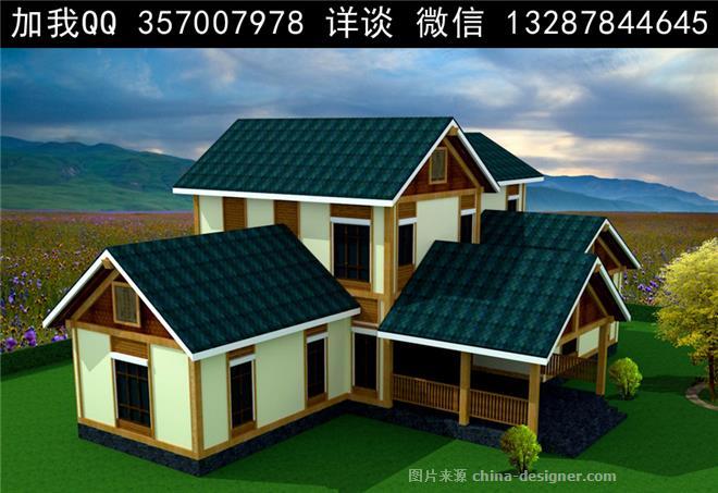 木屋 木结构别墅设计案例效果图-室内设计师93的设计师家园-独栋,联排