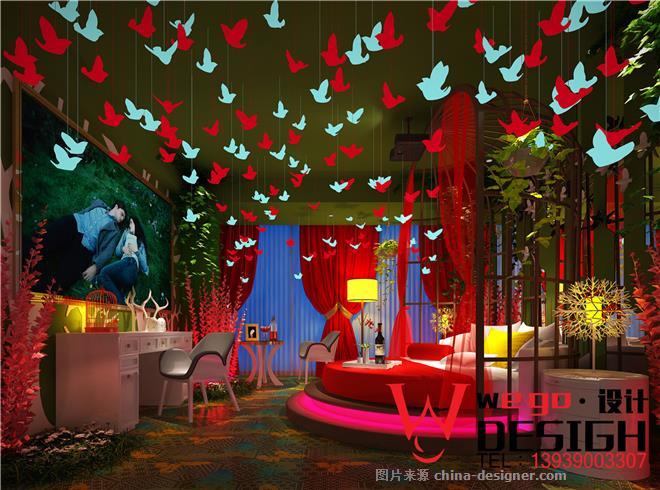 资源主题情趣时尚房设计-酒店情趣主题设计-上海勃朗空间设计课熙墨房型特色图片