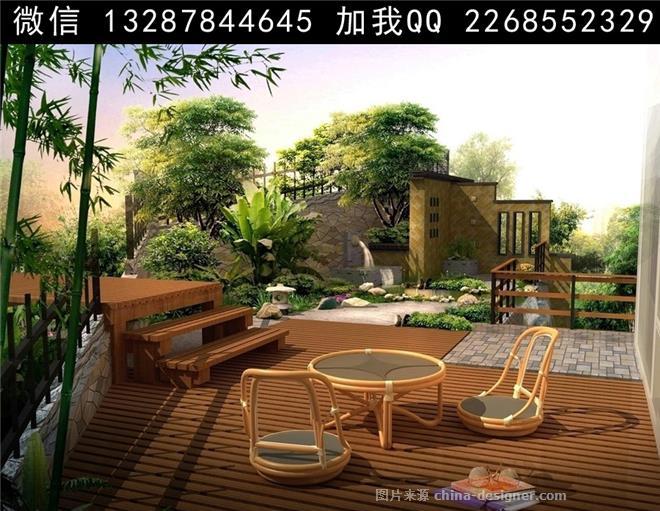 庭院景观设计案例效果图-室内设计师93的设计师家园-庄园,空中别墅,花