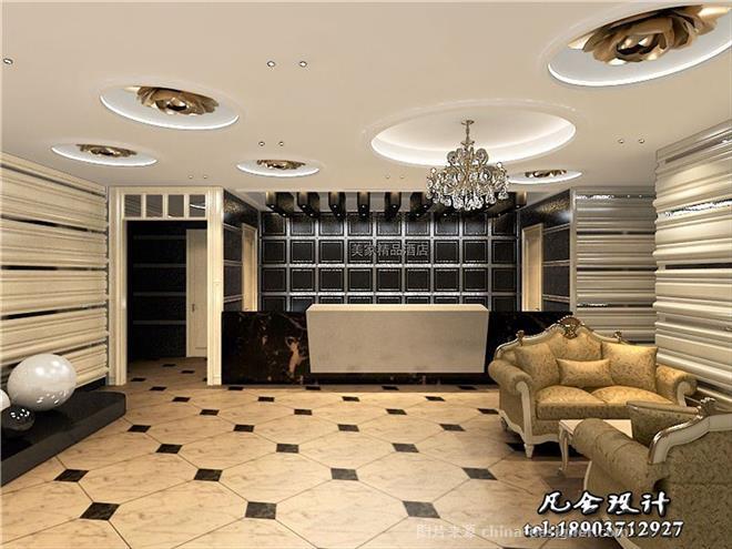鹤壁商务酒店设计效果图-河南省郑州市凡舍建筑装饰设计有限公司的
