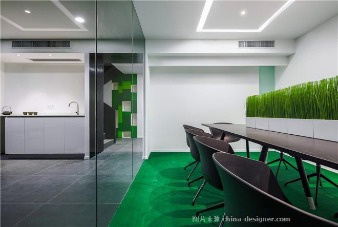 SINOTOP OFFICE -陶胜的设计师家园-办公区,现代简约,黑色,绿色,青春活力,简约大气
