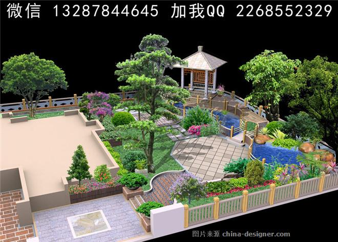 住宅院子 别墅院子设计案例效果图-室内设计师93的设计师家园-四居