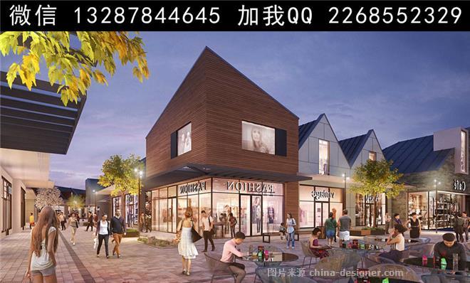 建筑商业设计 马路 夜景表现 步行街设计 商业步行街 商业广场 城