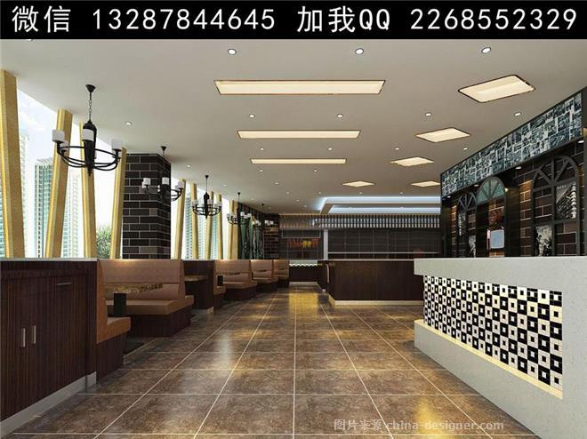 设计案例效果图-室内设计师93的设计师家园-农家菜,东南亚餐厅,小吃店