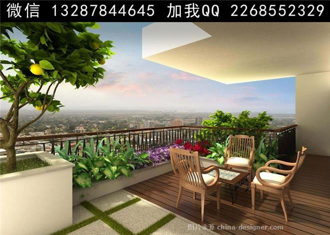 阳台花园设计案例效果图-室内设计师93的设计师家园-酒店式公寓,平房