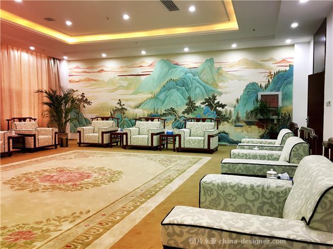 办公区,传统中式,墙绘,手绘墙,墙体彩绘,贵宾厅壁画
