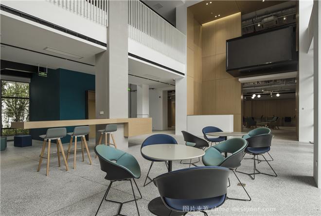 上海五角场双创学院办公空间设计案-倪益新的设计师家园-产业园区,现代简约,灰色,蓝色,工业化,简约大气