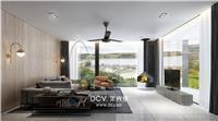 设计师家园-西安现代极简主义民宿酒店室内装修设计