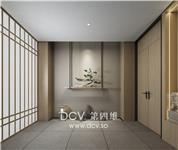 设计师家园-西安新中式雅韵办公商务会所室内设计