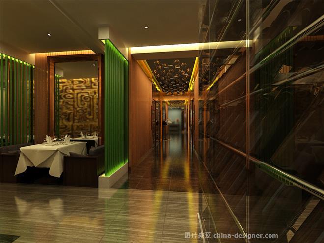 渔民新村海鲜酒楼-吕星何的设计师家园-中餐厅,新中式,沉稳庄重,简约大气,棕色