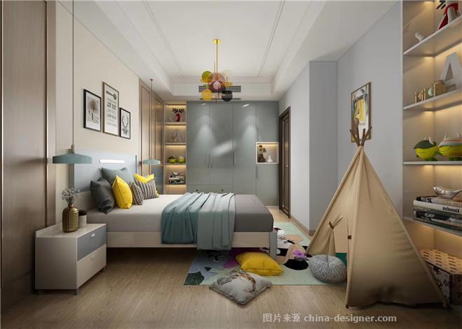 现代简约设计作品-席向前的设计师家园-三居,现代简约,紧凑灵活,简约大气,青春活力,灰色,黄色,白色