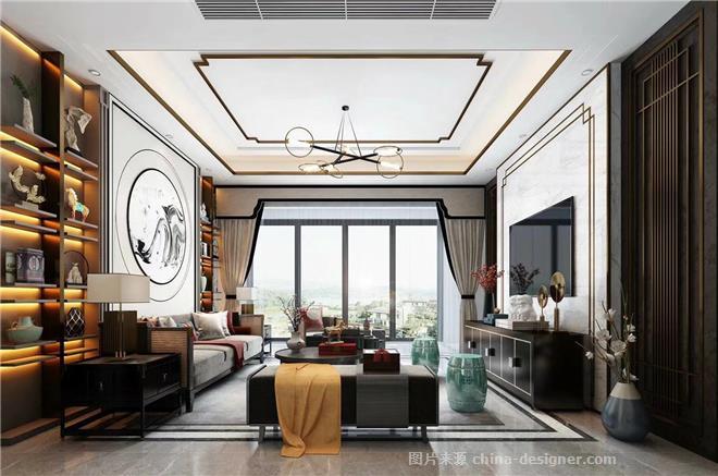 现代中式风格作品-席向前的设计师家园-联排,新中式,沉稳庄重,奢华高贵,灰色