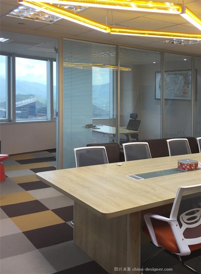 文华权设计-环球联富深圳办公总部-文华权的设计师家园-办公区,现代简约,闲静轻松,棕色,黄色,灰色