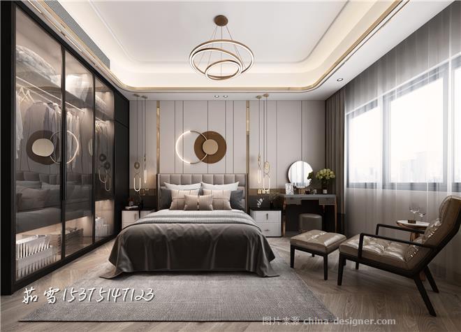轻奢空间之客餐厅卧室-项茹雪的设计师家园-三居,后现代主义,简约大气