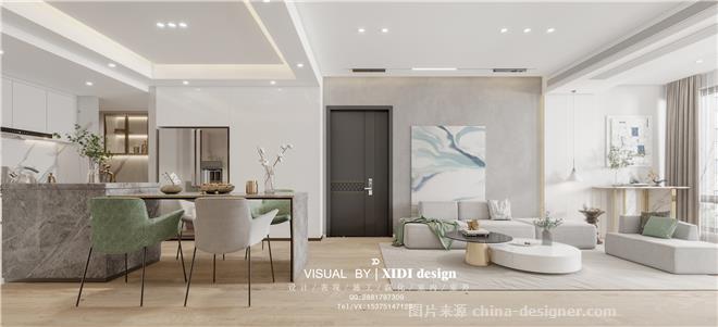 极简白空间-项茹雪的设计师家园-三居,现代简约,白色