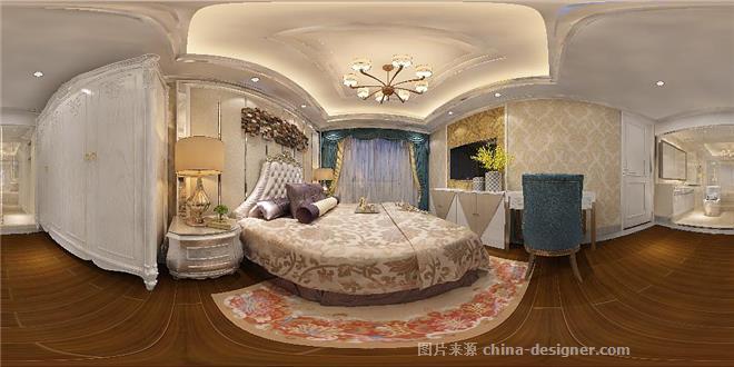 徐家汇花园陈府-朱斌的设计师家园-三居,欧式,奢华高贵,彩色,白色