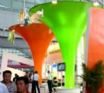 深圳市恒丰达膜结构有限公司-落英缤纷  展会喇叭造型