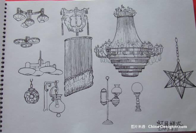 灯具平面效果图-8度设计室的设计师家园-灯具图片