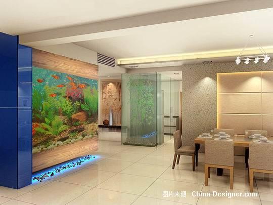 鱼缸效果图-小谭的设计师家园-住宅公寓