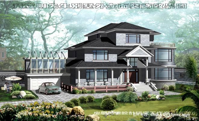 别墅室外效果�_童立民别墅室外装饰效果图-张亦军的设计师家园-100-200万