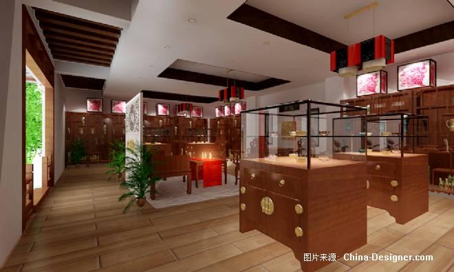 玉石展厅-郭雪梅的设计师家园-中式