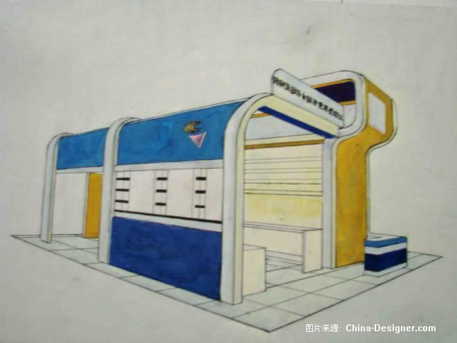 《展示手绘图》-设计师:祝艺.设计师家园-祝氏设计院-