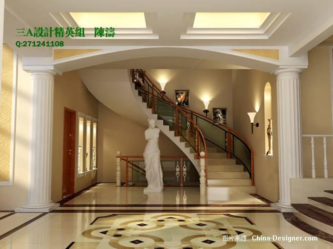 楼梯间-陈涛的设计师家园-欧式