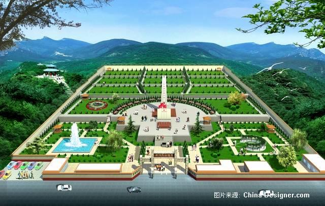 朝阳烈士陵园0312-王鑫的设计师家园-鸟瞰,景观