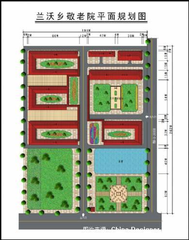 兰沃敬老院平面图-杨虎的设计师家园-田园图片