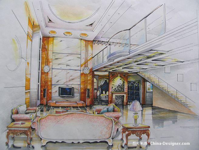 客厅手绘图-方展晖的设计师家园-1图片