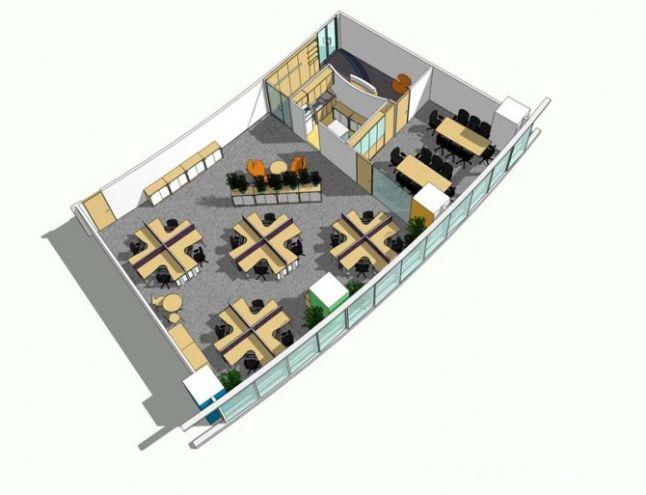 layout plan-荧光灯的设计师家园-平面图