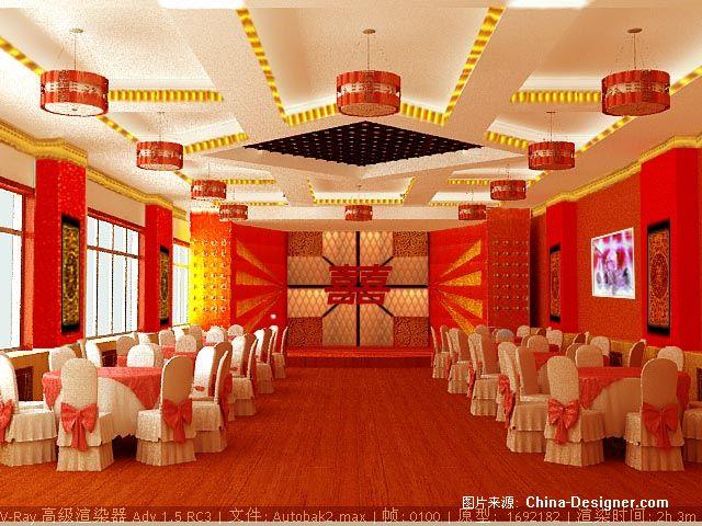 婚宴大厅1-大荣的设计师家园-红色