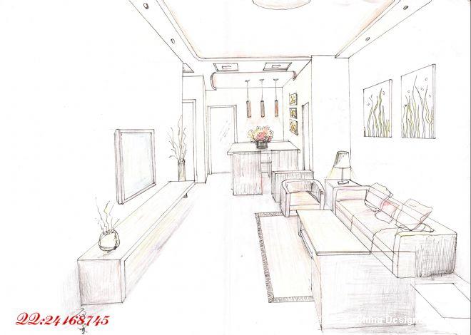 手绘4-上海南羽建筑装饰工程有限公司的设计师家园-10-20万,三居,客厅
