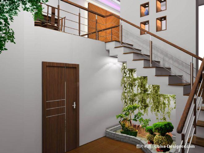 青浦29号楼梯下装饰景点-上海舒映装饰设计有限公司的设计师家园-20
