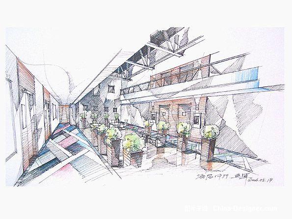 酒店大堂草图-1-融度室内建筑设计有限公司的设计师家园-现代图片