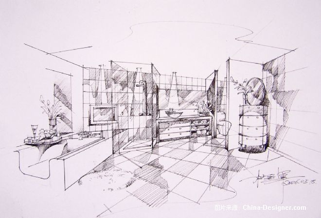卫浴草图-融度室内建筑设计有限公司的设计师家园-现代图片