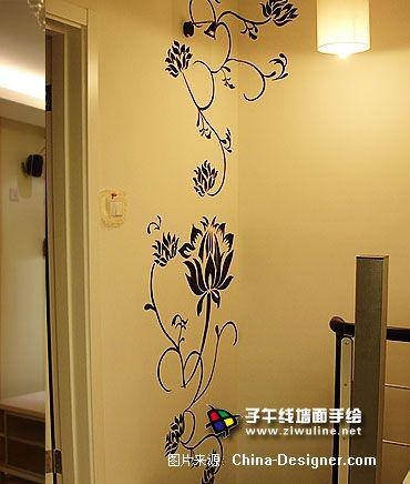 《电视背景墙手绘20》-设计师:上海子午线手绘墙画室.