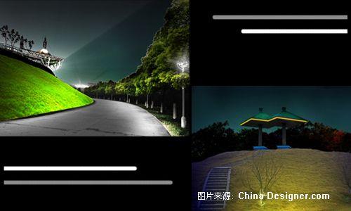 《公园照明1》-设计师:李艳维.设计师家园-黑夜里的一