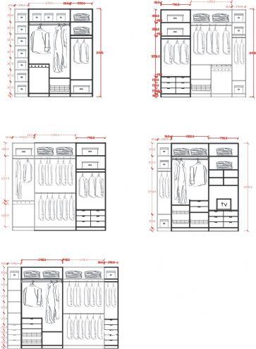 2400mm的柜子组合标准图-张丽的设计师家园-衣帽间