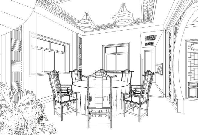 餐厅0-张锴的设计师家园-别墅,餐厅,中式图片