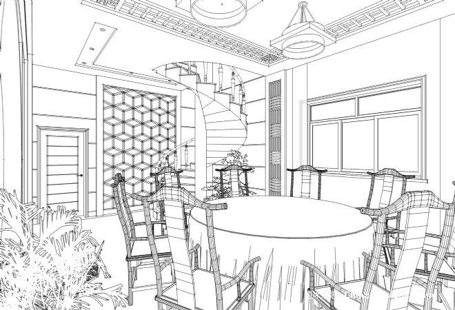 餐厅01-张锴的设计师家园-别墅,餐厅,中式图片