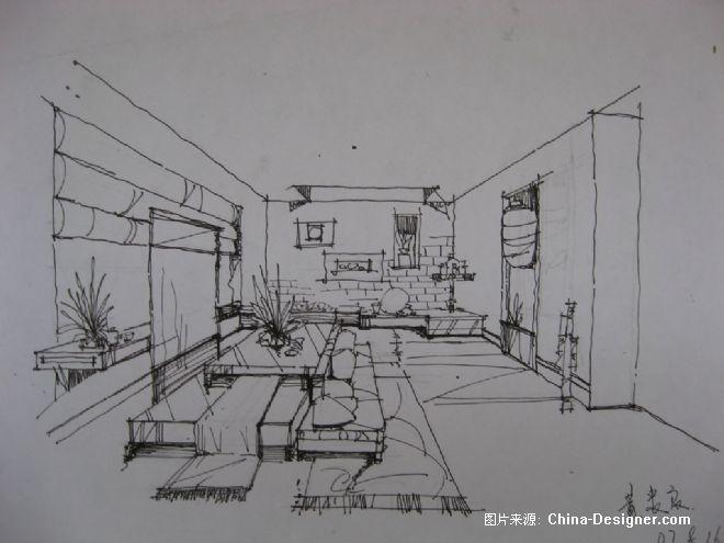 手绘图书馆1-黄忠良的设计师家园-卧室