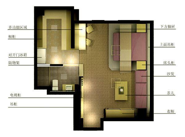 彩色平面图-池海江的设计师家园-沉稳