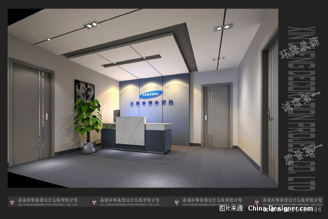 三星东莞联络处办公室前台-佘辉的设计师家园-10-20万,办公室,白色