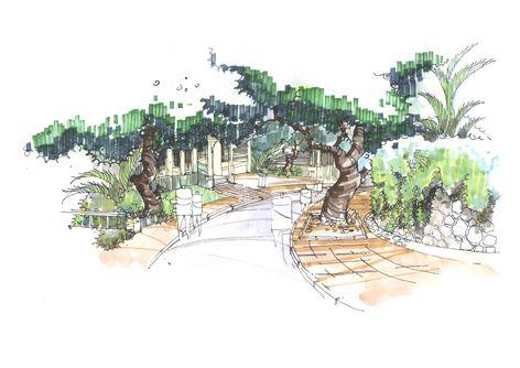 局部手绘别墅效果图3-田景杰的设计师家园-窗帘,绿色远洋3d家居设计软件图片