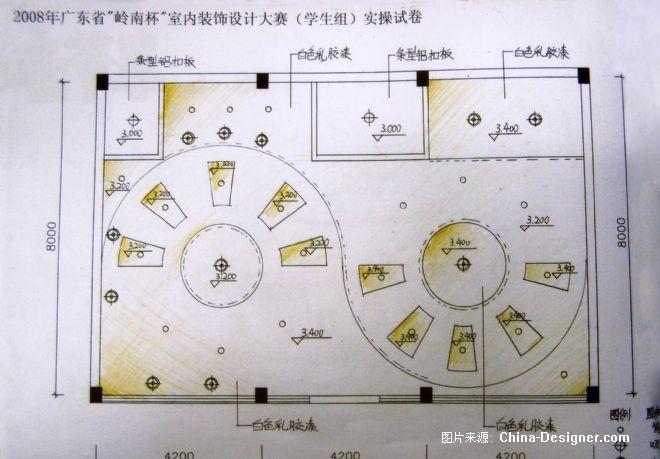 咖啡厅天花布置图-张宇的设计师家园-咖啡厅天花布置图图片
