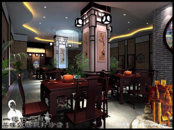 南宁某茶楼设计方案-莫金华的设计师家园-30-50万,黄色,沉稳,温馨,新图片