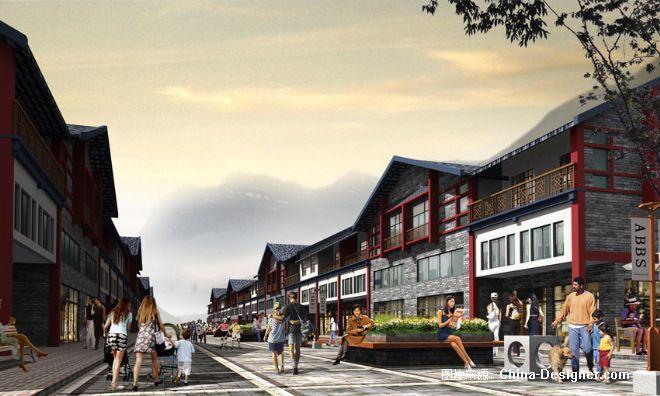 中式商步行街-博铭室内设计师陪训班的设计师家园-外观图片