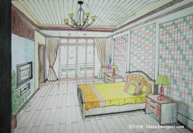 倾斜透视-陈海英的设计师家园-卧室