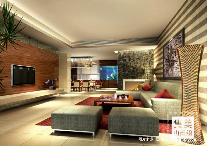 滨江东某样板房7-吴宗建的设计师家园-现代